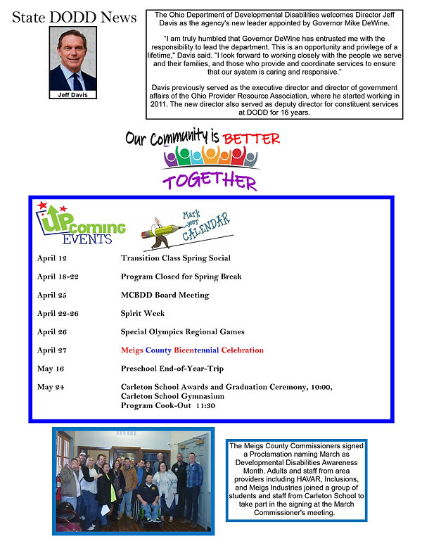 newsletter 2019 flyer January to March f