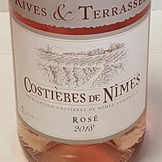 VIN rosé LES COSTIÈRES DE NÎMES A.O.P. 13% 75CL