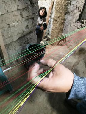 Preparing the loom