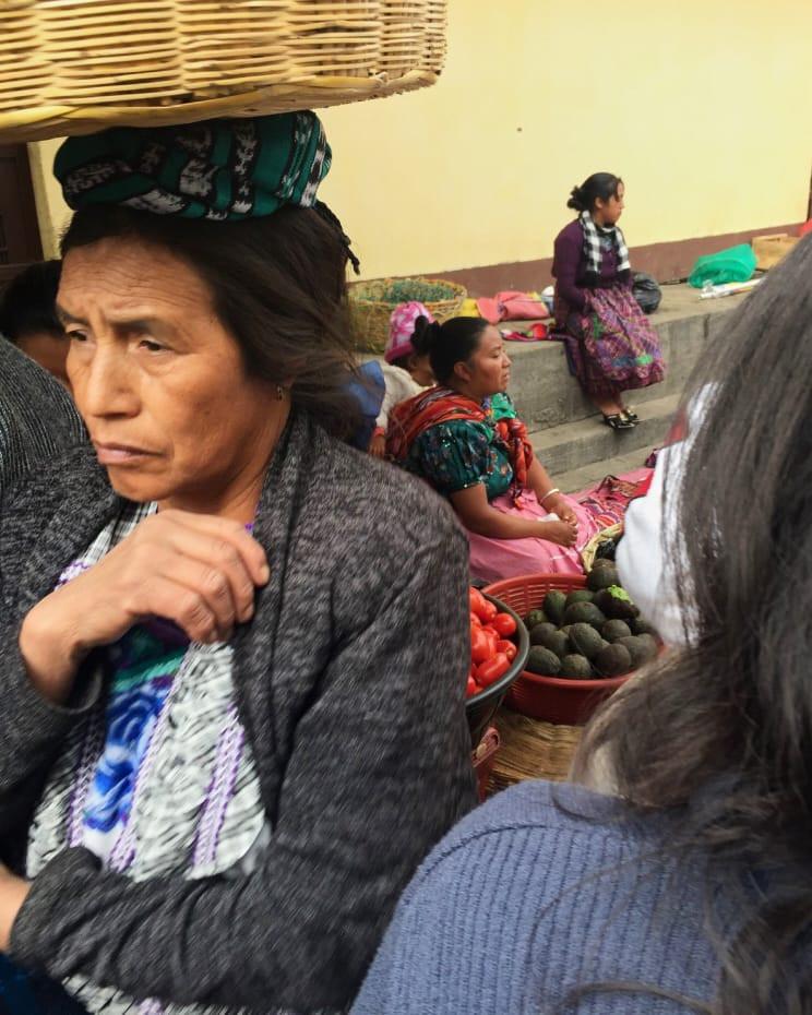Maya women at market