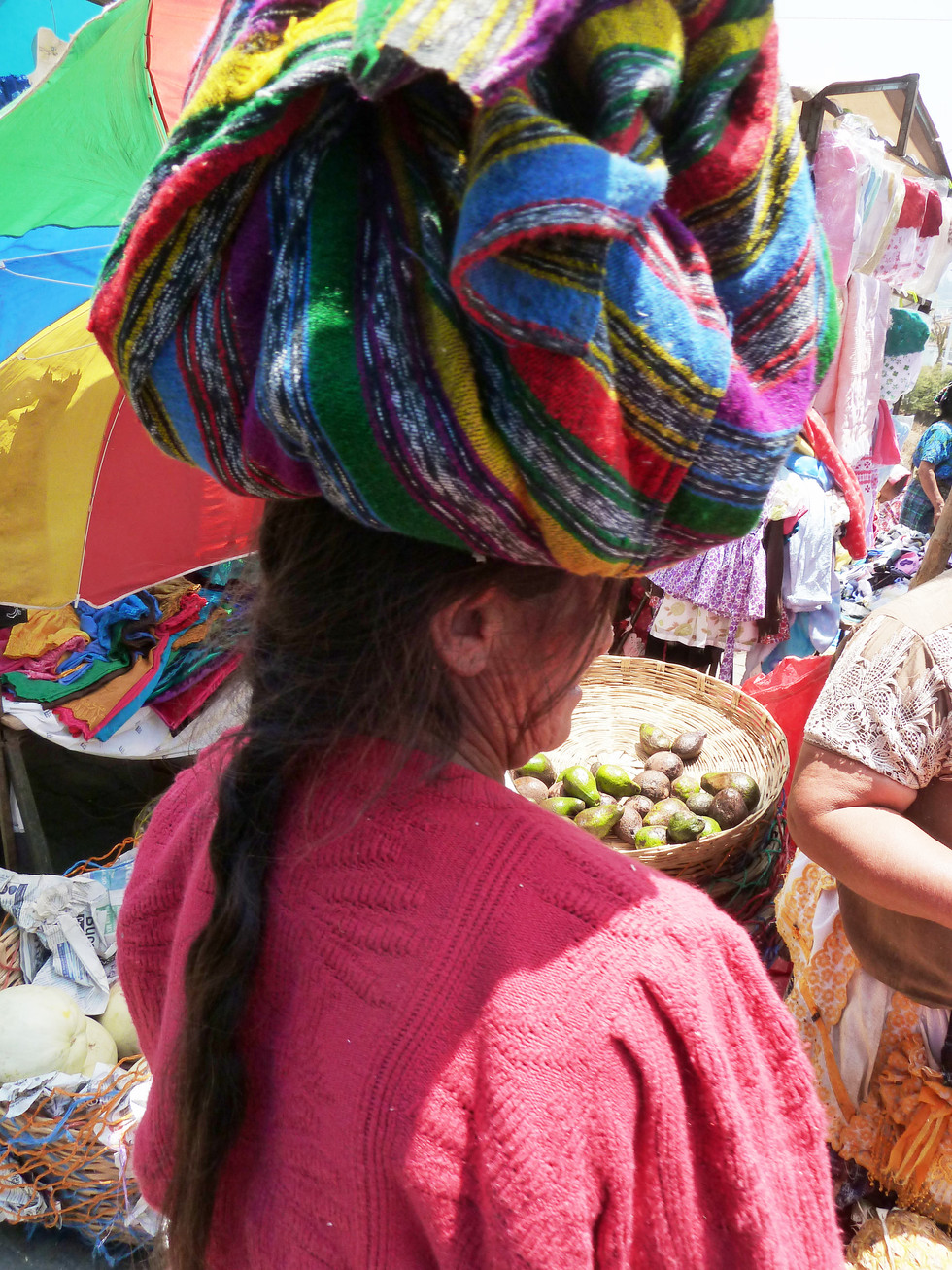 Maya woman at market