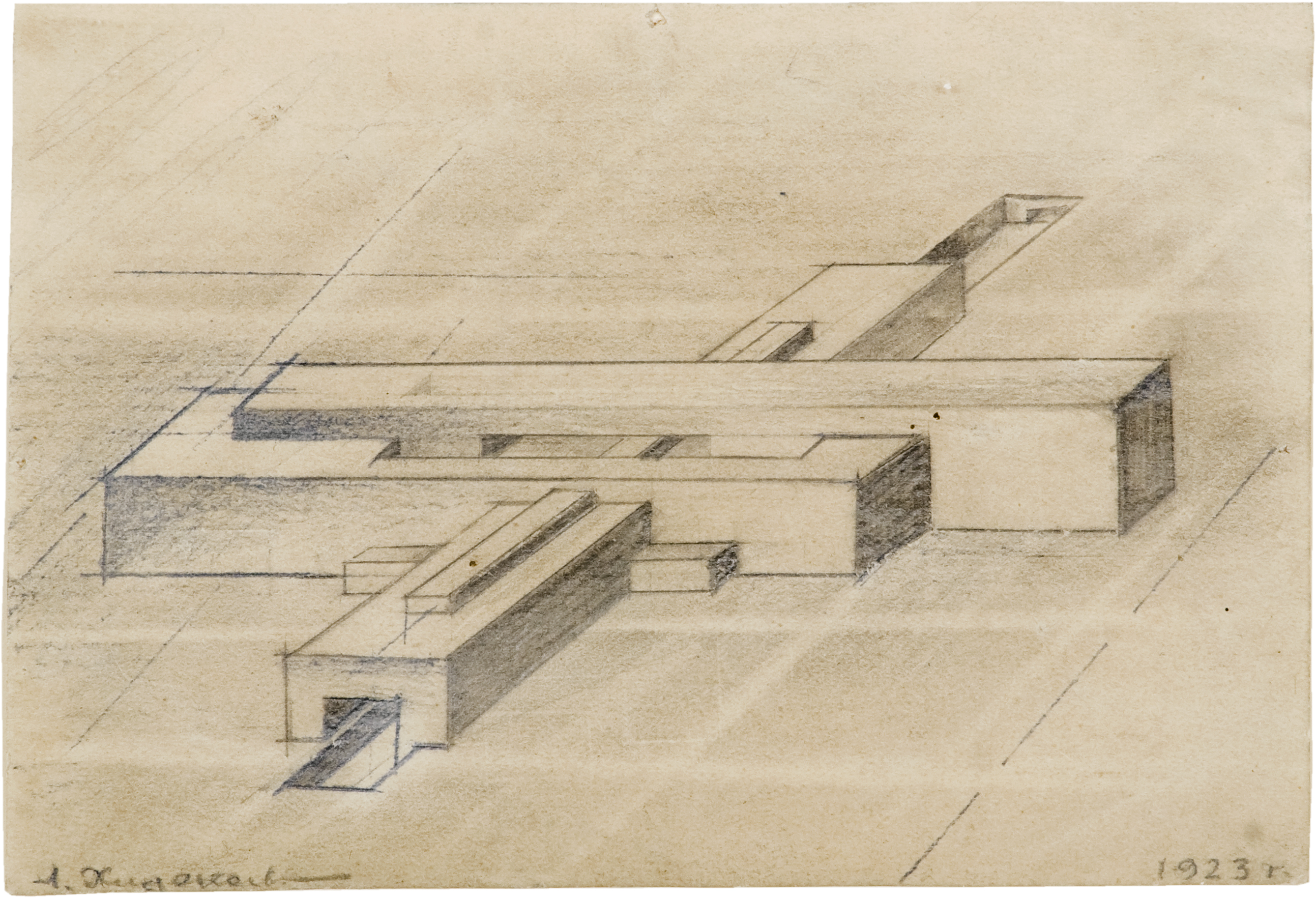 Design_for_Horizontal_Architecton_–_Aero-club_Axonometry1923