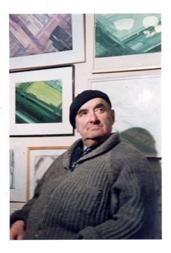Lazar  in his Leningrad apartment 1970s