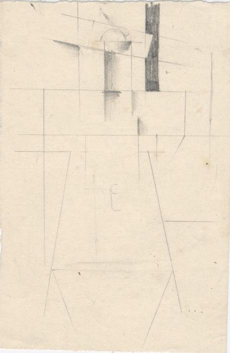 Cubo-futuristic composition