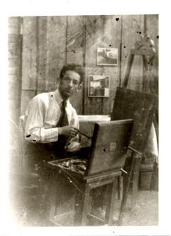1922 Vitebsk at easel