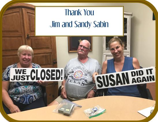 Jim and Sandy Sabin