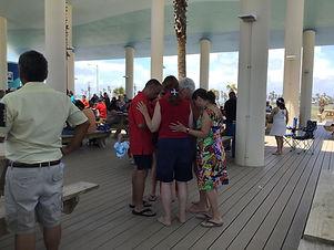 Worship Service at Isla Blanca Park on South Padre Island Texas