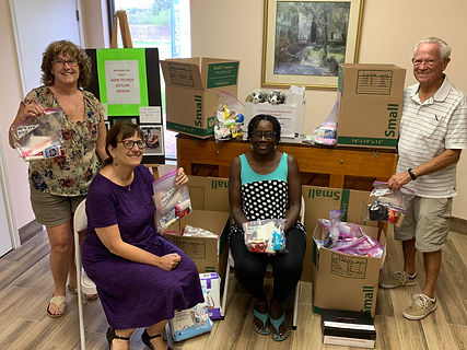 St. Andrews collecting food