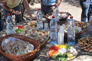פריסת אוכל לקבוצות