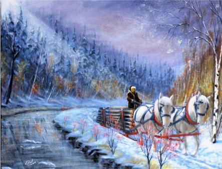 LP198 Traineau à chevaux