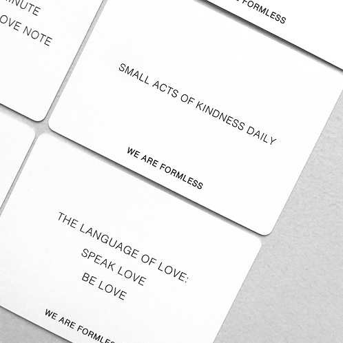 Love Affirmation Cards | We are Formless