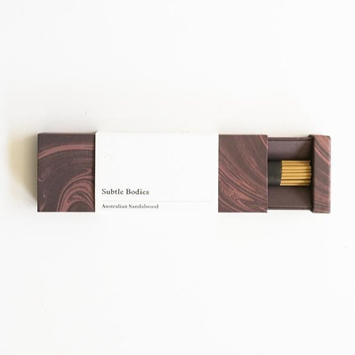 Australian Sandalwood incense | Subtle Bodies