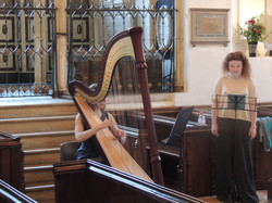 Soprano and Harp Rectial Rehearsal