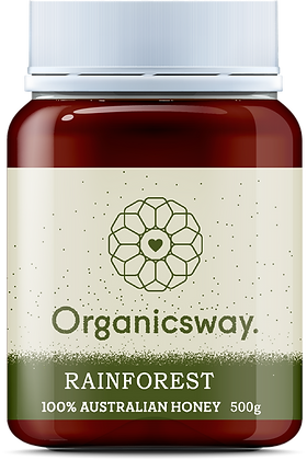 500g Rainforest Raw Honey