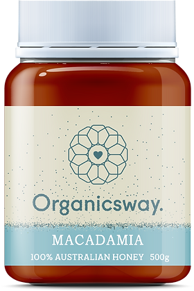 500g Macadamia Raw Honey