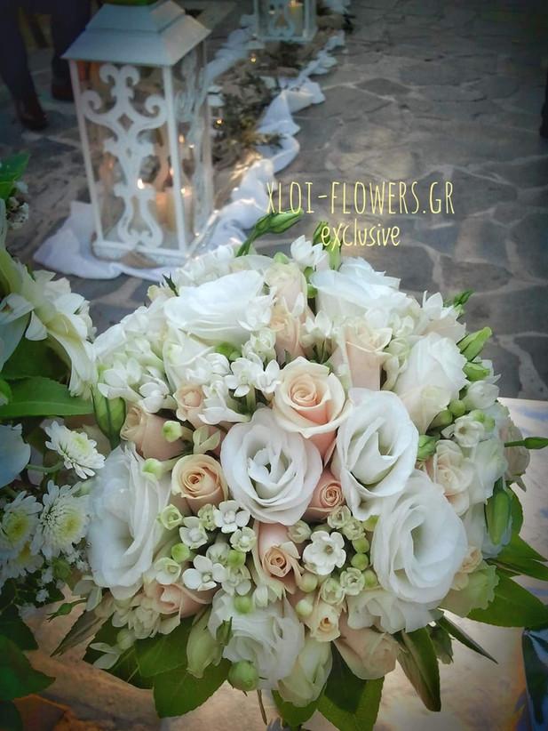 vintage bouquet σε σομόν αποχρώσεις