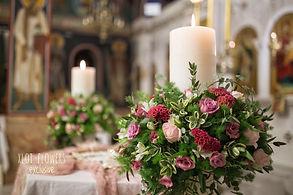 Λαμπάδες γάμου σε ροζ αποχρώσεις
