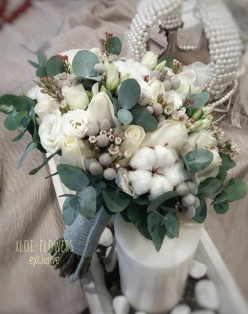 cotton - white bouquet