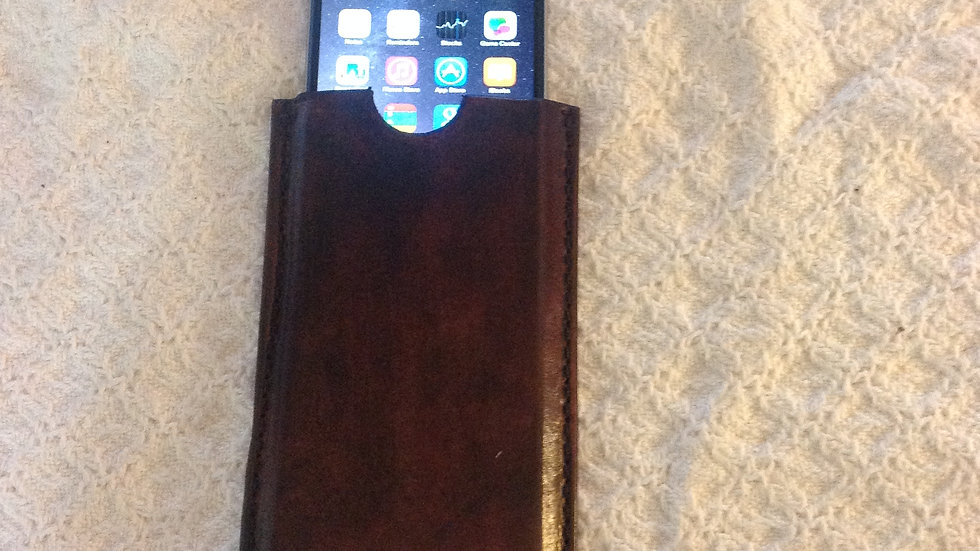 Vegtable Tanned Leather Phone Case