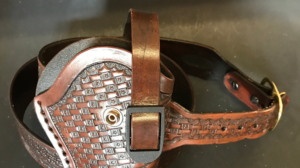 Vegetable Tanned Leather Holster and Belt