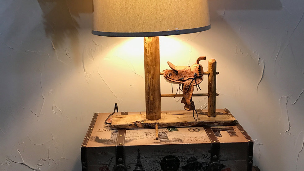 Saddle Lamp and Shade