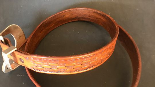 Leather Belt   1 1/2 inches wide, Length to 48""