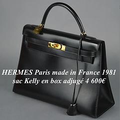 Sac Kelly box Hermès