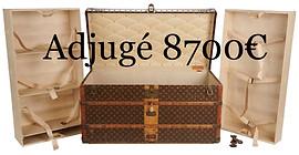 Importante malle courrier trunk Vuitton