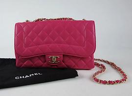 Sac Timeless Chanel matelassé rose