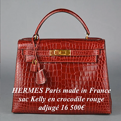 Sac Kelly crocodile rouge Hermès