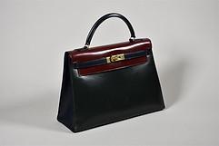 Hermès Kelly 32 en box tricolore