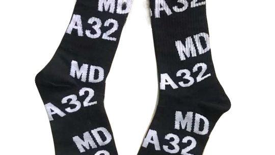 Black MDA 32 Socks