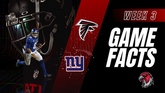 GameFacts Regular-Season Game Falcons @ Giants