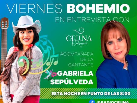 """Entrevista a Gabriela Sepulveda en """"Viernes Bohemio"""" con Celina Rodriguez."""