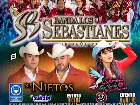 MAYO 30 En Concierto- Banda Los Sebastianes, Gabriela Sepulveda, y Los Bisnietos