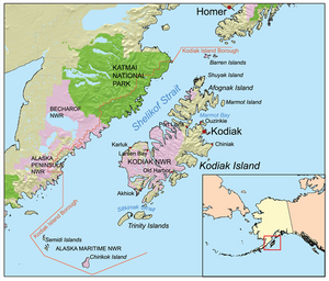 kodiak island nicknamed emerald isle