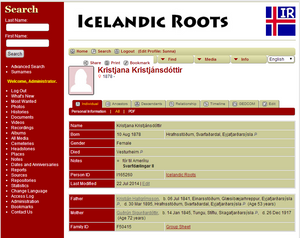 Elusive Person at Icelandic Roots