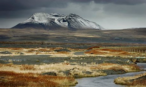 Iceland Snow on the Mountain