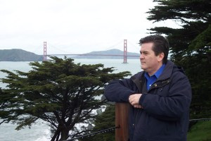 David and the Golden Gate Bridge, San Francisco (2-16-2009)