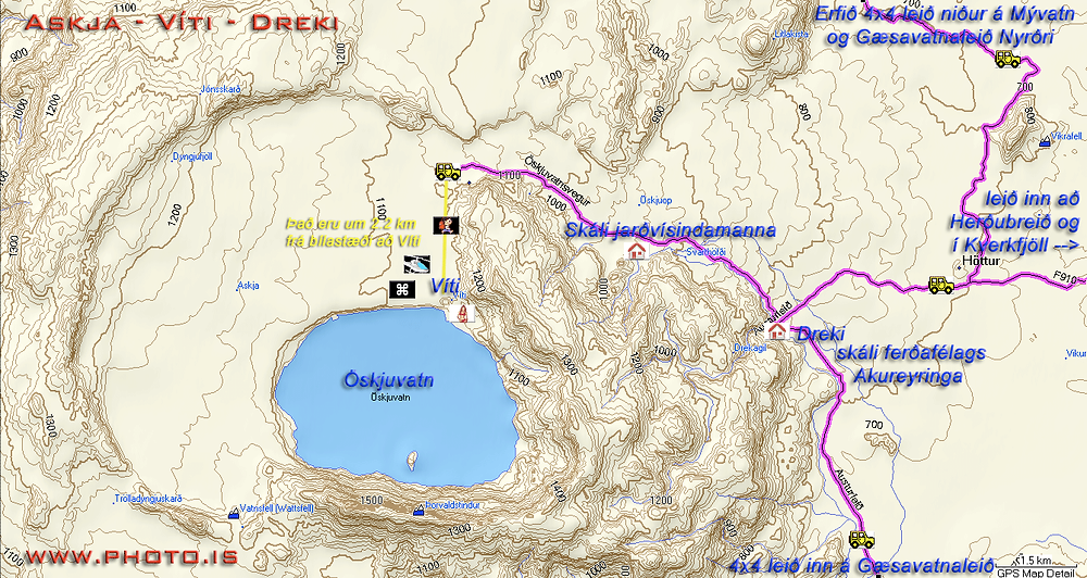 askja and viti map