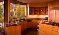 Luxury kitchen with large bay window