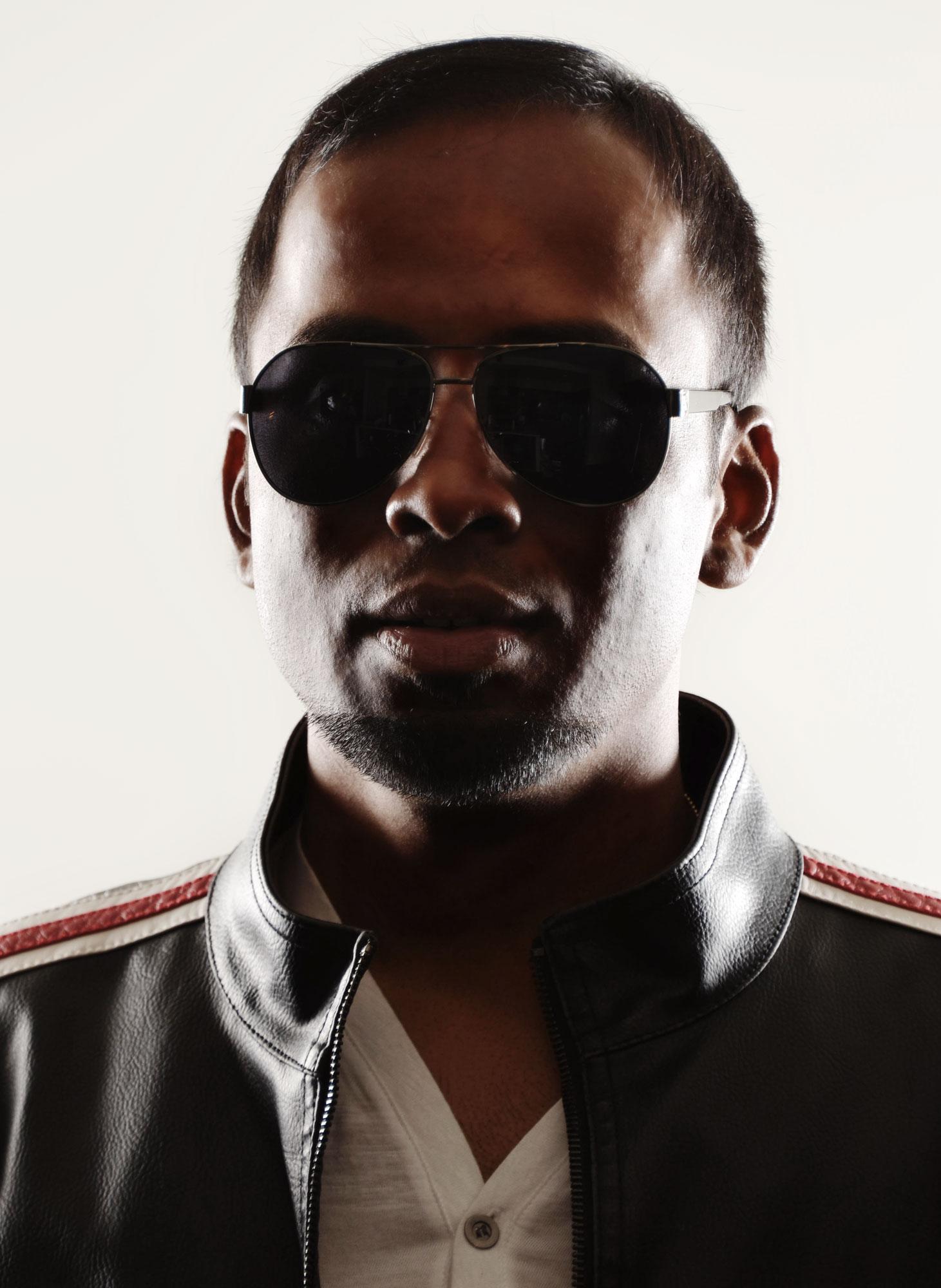 rapper style portrait