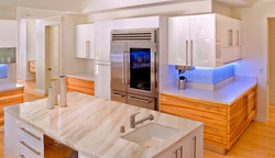 white marble top luxury kitchen