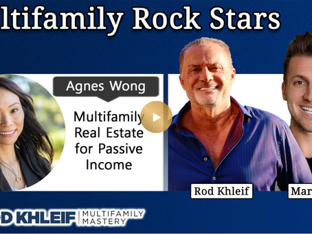 Agnes Wong featured on top ranked Multifamily Podcast! Get insights on  building passive income!