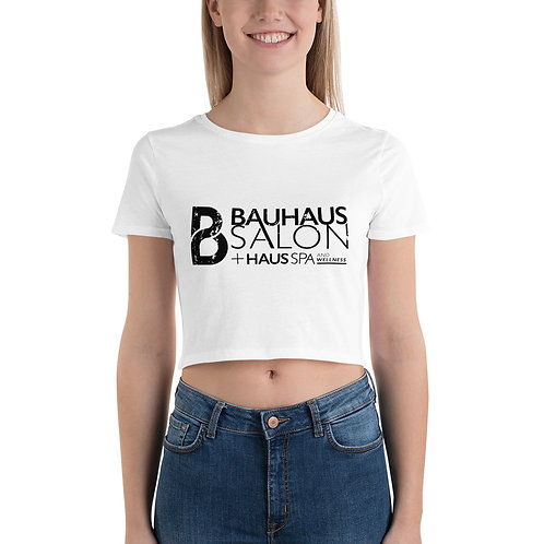 Bella Women's Crop Tee (Black Logo)
