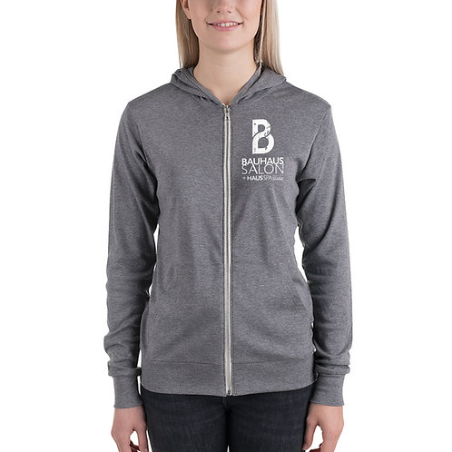 Unisex zip hoodie (White Logo)