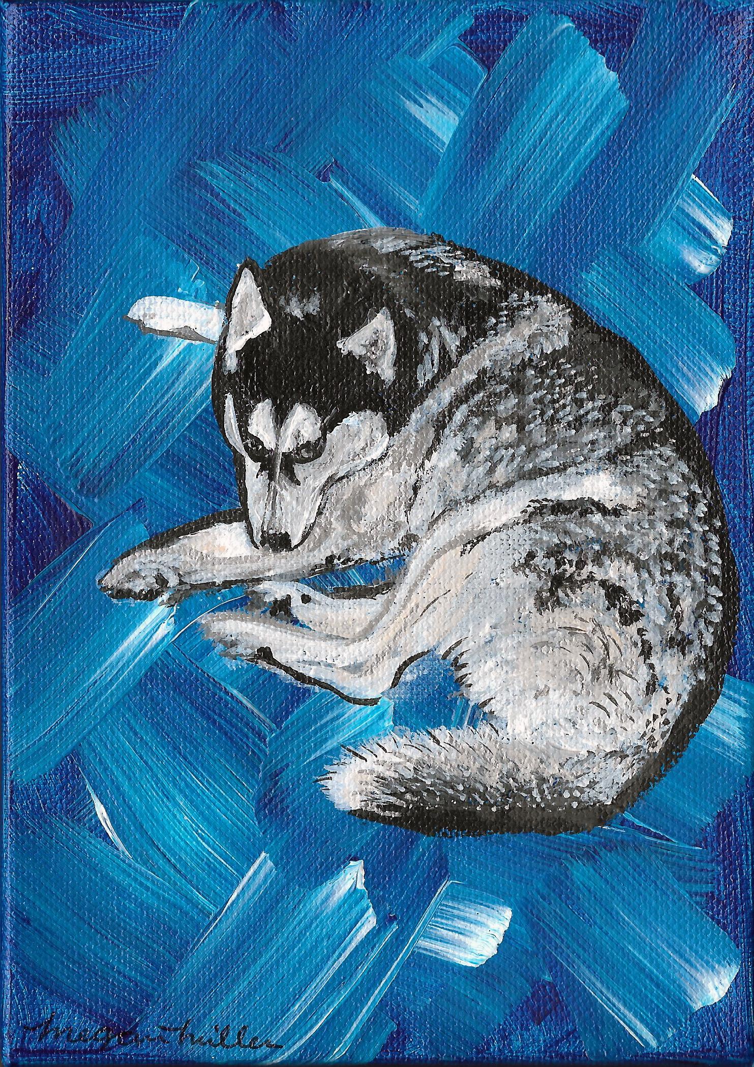 Acrylic Husky