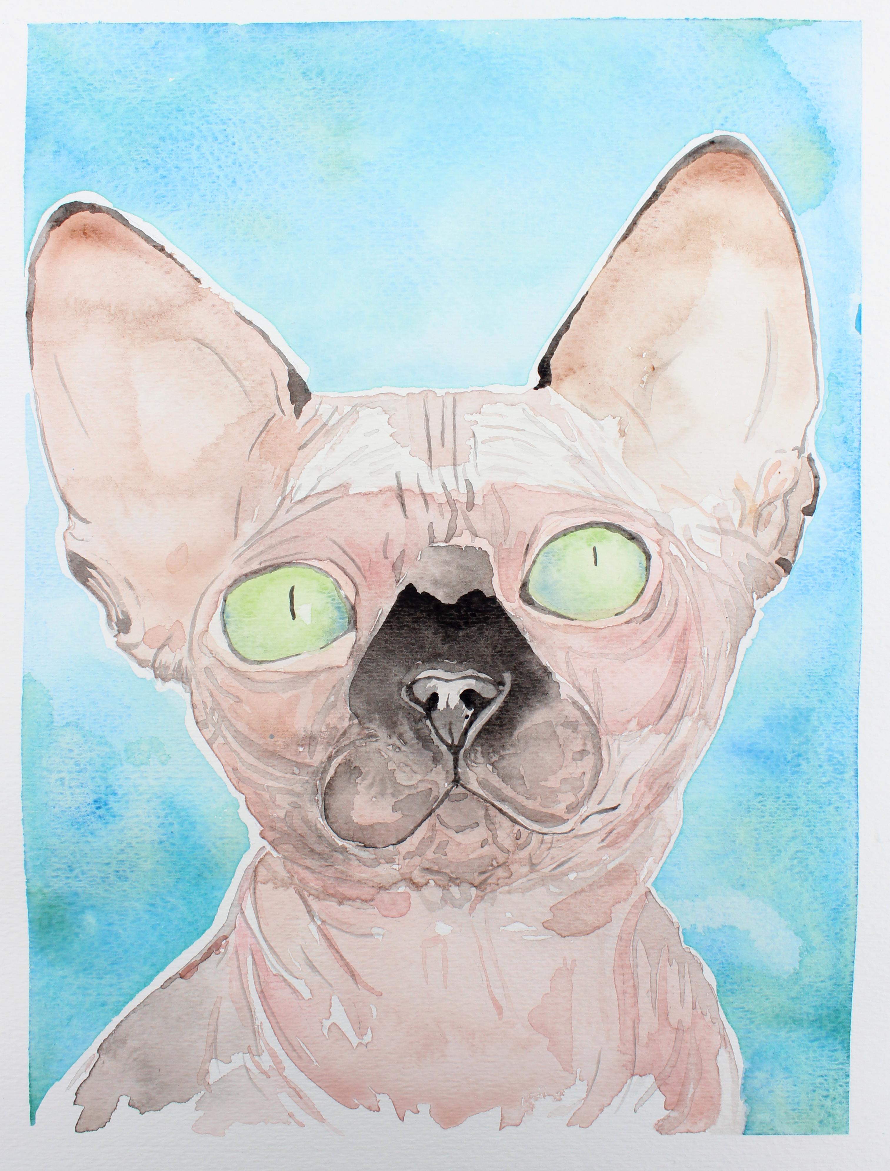 Watercolor Sphynx