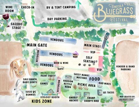 Temecula Valley Bluegrass Festival Map