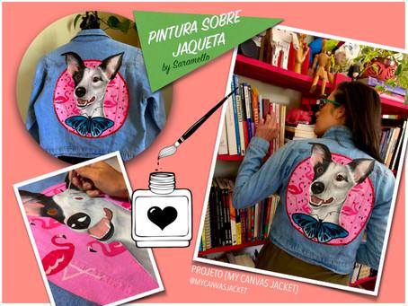 Pintura sobre jaqueta [painting on jacket]